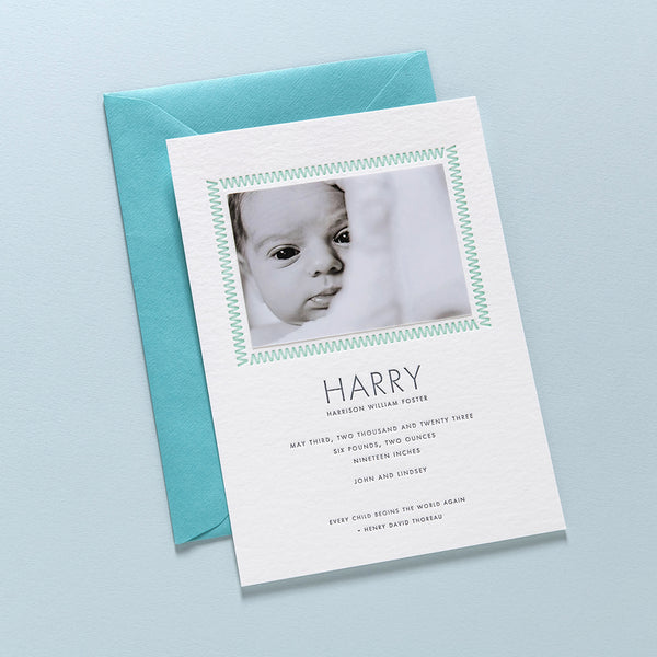 Harry Birth Announcement