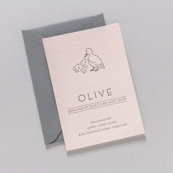 Olive Birth Announcement