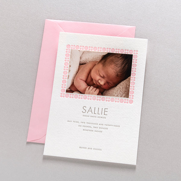 Sallie Birth Announcement