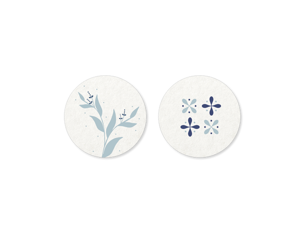 Winter Wonderland Floral & Snowflakes Coasters