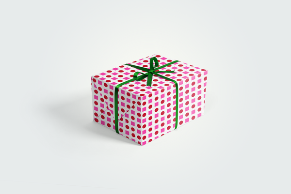 Geometric Holiday Gift Wrap