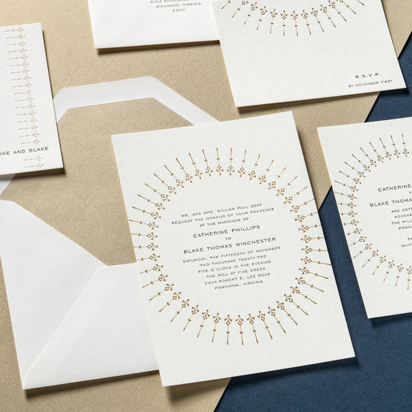 Catherine + Blake Custom Wedding Invitation