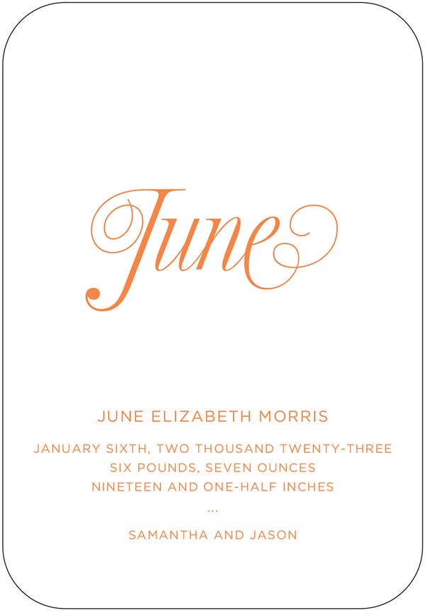 June Birth Announcement