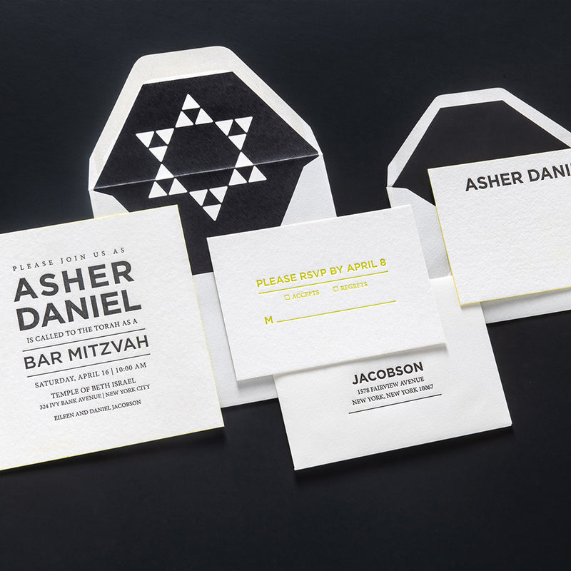 Asher Bar Mitzvah Invitation