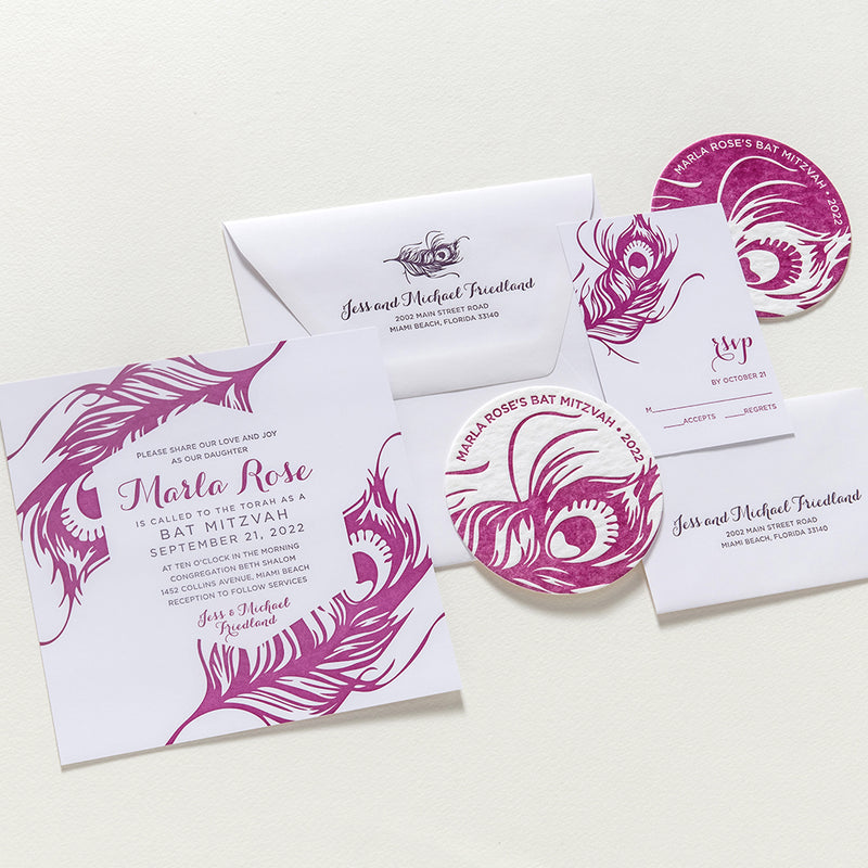 Marla Bat Mitzvah Invitation