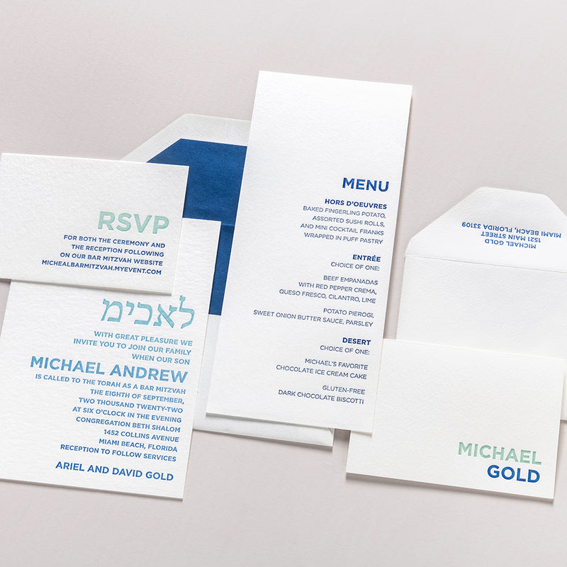 Michael Letterpress Stationery