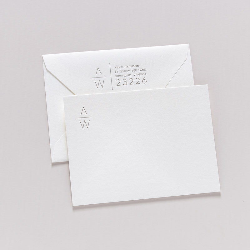 Ava + Weston Stationery