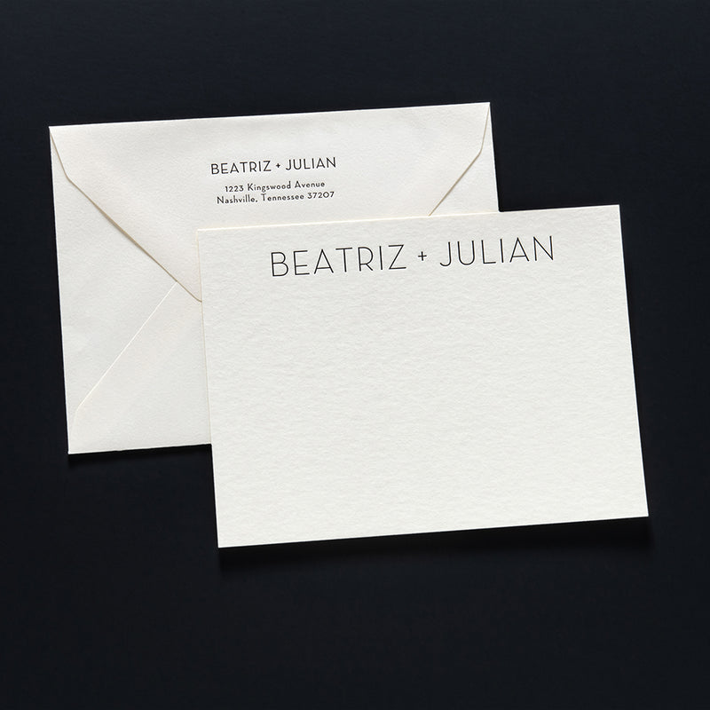 Beatriz + Julian Custom Stationery