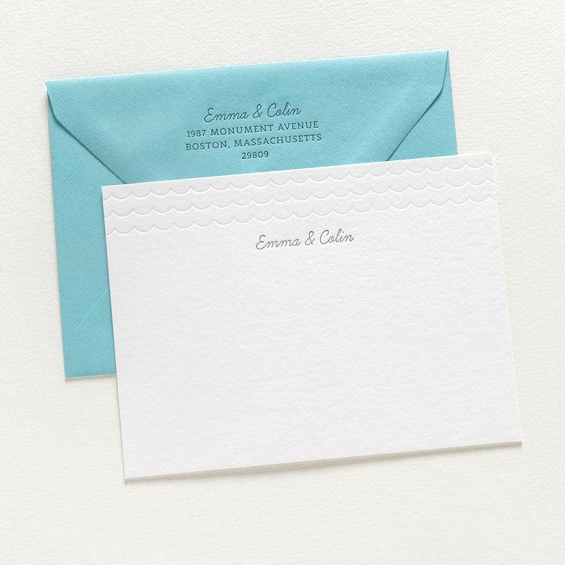 Emma + Colin Custom Stationery Card