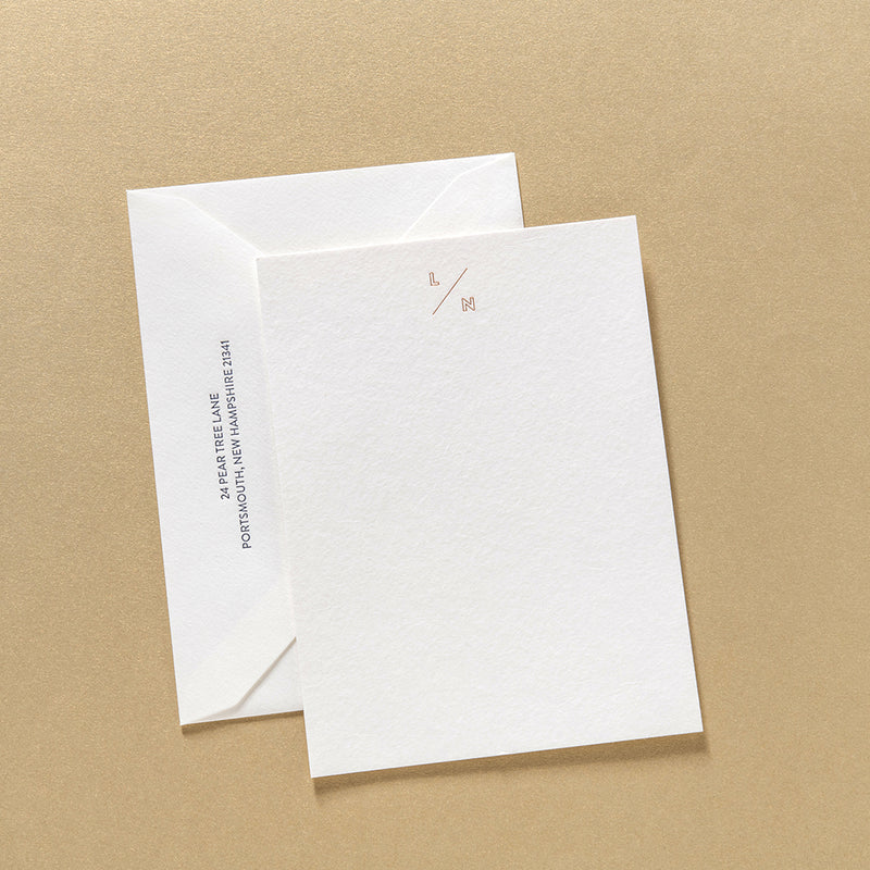 Lucia + Navin Stationery