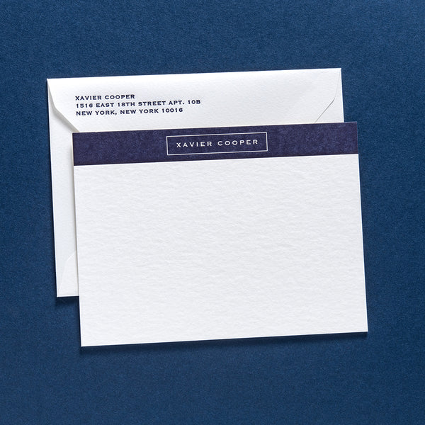 Xavier Personal Stationery