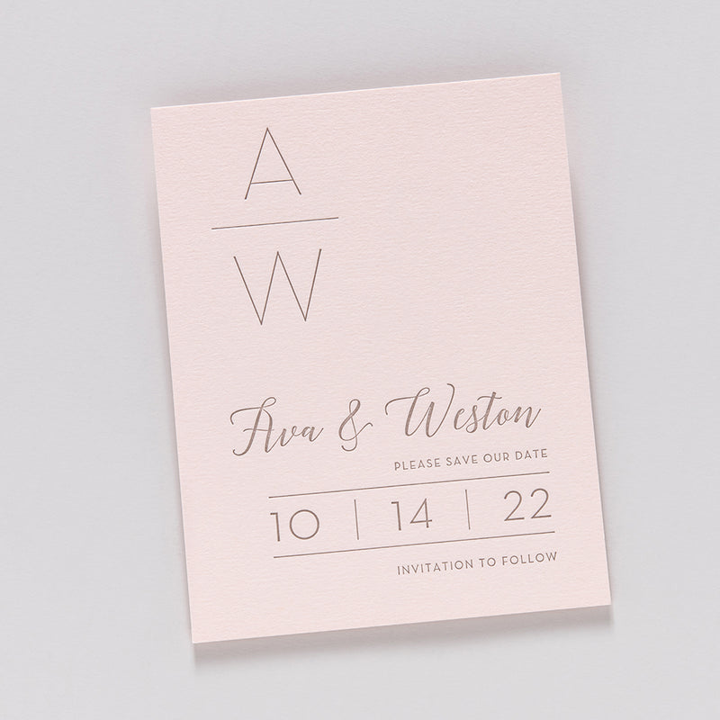 Ava + Weston Custom Save The Date