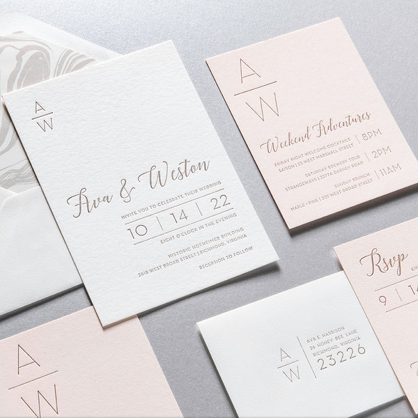 Ava + Weston Custom Wedding Invitation