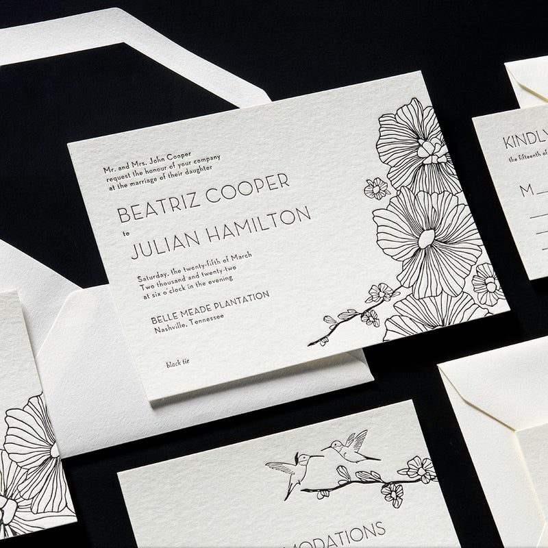 Beatriz + Julian Wedding Invitation