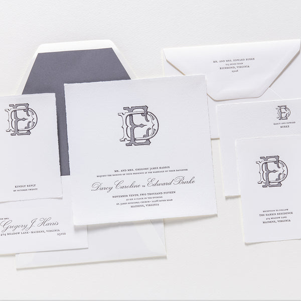 Darcy + Edward Wedding Invitation Cards