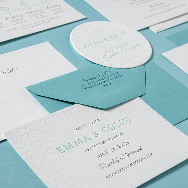 Emma + Colin Custom Wedding Invitation