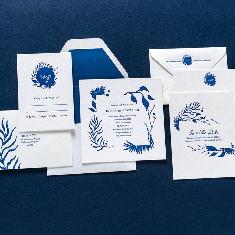 Heidi + Will Custom Wedding Invitation