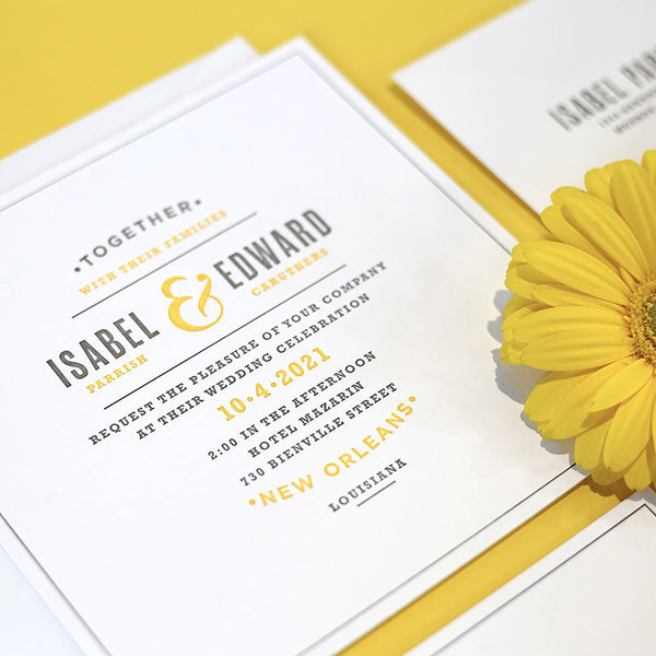 Isabel + Edward Custom Wedding Invitation