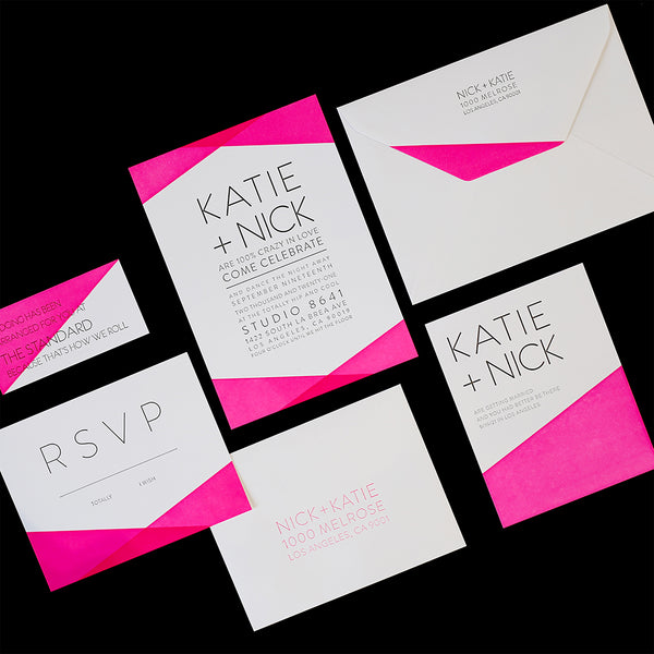 Katie + Nick Custom Wedding Invitation