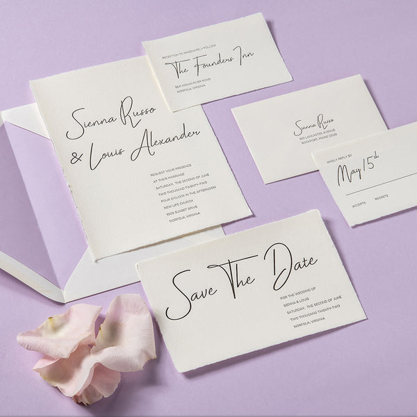 Sienna + Louis Custom Wedding Invitation