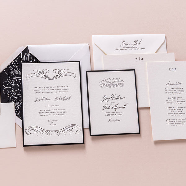 Zoey + Jack Custom Wedding Invitation