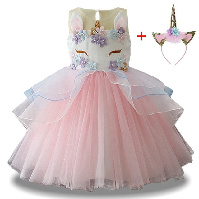 23aac88d6f Unicorn TuTu Dress Pastel Rainbow Princess Girls - Little Sugar Store
