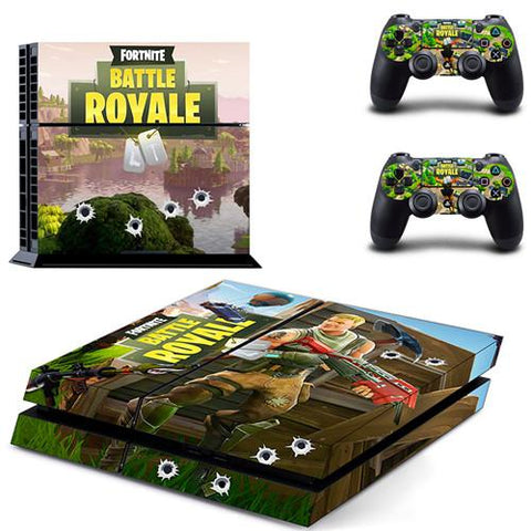 Skin PS4 Manettes et Console Battle Royale