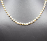 Vintage 5mm to 5.5mm Akoya Pearl Necklace with 14k Yellow Gold Clasp 16""