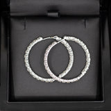 Roberto Coin 5.55ctw Diamond Inside Out Hoop Earrings 18k with Packaging