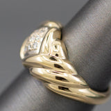 0.10ctw Pave' Diamond Low Profile Band Ring in 18k Yellow Gold