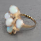 Vintage Opal Layered Cocktail Ring in 14k Yellow Gold
