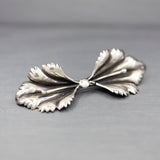 Vintage Retro Floral Pin Brooch in Sterling Silver