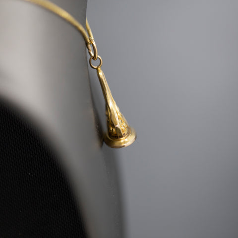 Beautiful Brutalist Pearl and Diamond Organic Cocktail Ring in 14k Yellow Gold