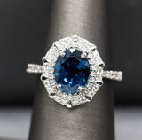 Ocean Blue Tourmaline Statement Ring
