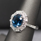 Something Blue Tourmaline Engagement Ring
