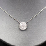 Brilliant 1.00ctw Diamond Cluster Necklace in 14k White Gold