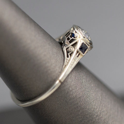 Victorian Pearl and Flower Dangle Earrings in 14k Yellow Gold