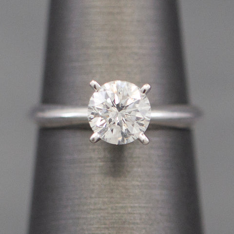 1.31ct Classic Round Diamond Solitaire Engagement Ring in Platinum