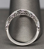 0.35ctw Diamond Infinity Wedding Band Ring 14k White Gold Size 7.25