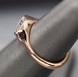 East West 0.69ct Marquise Diamond 14k Rose Gold Ring