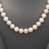 Pastel Colored Freshwater Pearl Necklace with 14k Filigree Clasp