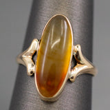 Victorian Banded Agate Ring in 10k Yellow Gold