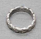 Infinity 0.75ctw Criss Cross Infinity Diamond Eternity Band Ring 14k White Gold Size 7