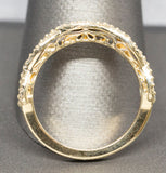 0.35ctw Diamond Infinity Wedding Band Ring 14k Yellow Gold Size 7.25