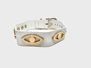 JULES | EVIL EYE COLLAR - WHITE
