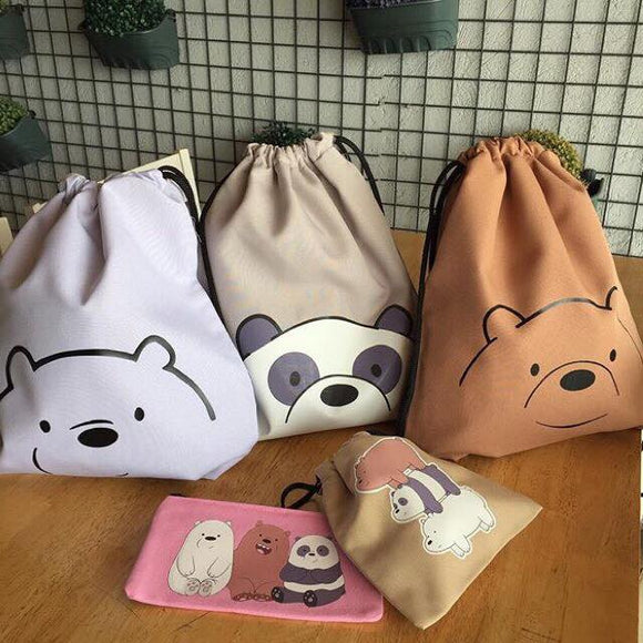 We Bare Bears String Bag - Wander Gala
