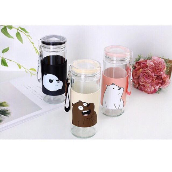 We Bare Bears Tumbler Portable Water Bottle 455ML - Wander Gala