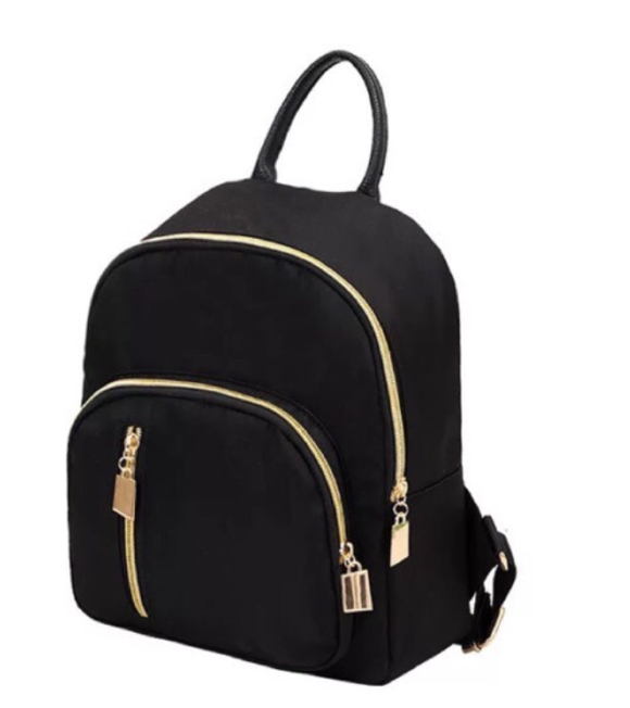 Trendy Korean Small Black Backpack - COD - Wander Gala