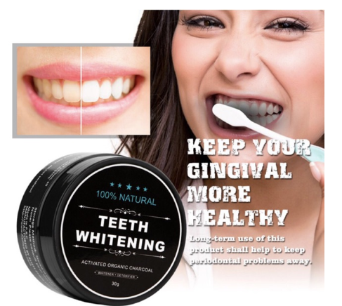 Teeth Whitening Activated Organic Charcoal 30g - Wander Gala