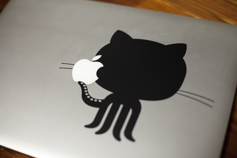 Octocat Laptop Decal